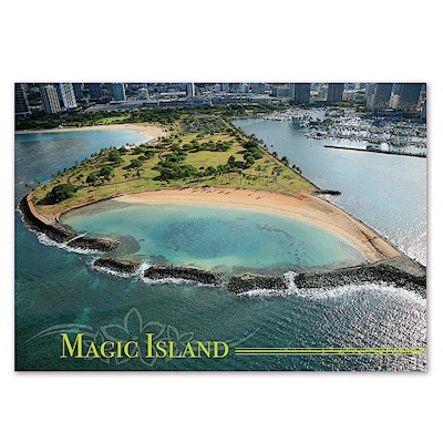 Magic Island 4 X 6 O'ahu Postcard
