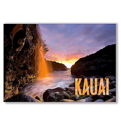 Queen's Bath Waterfall 4 X 6 Kauai Postcards