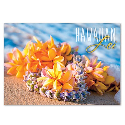 Lei on  the Beach 4 X 6 Generic Postcards