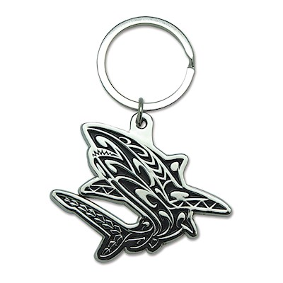 Metal Keychain, Tribal Shark