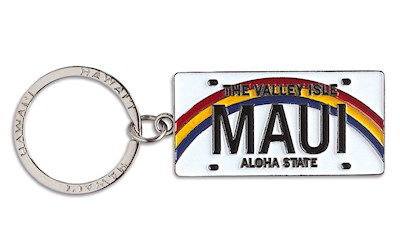 Metal License Plate Keychain, Maui