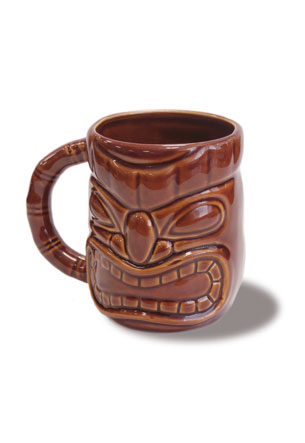 12 oz. Tiki Mug, Dark Brown