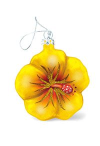Collectible Glass, Yellow Hibiscus