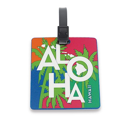 PVC ID/Luggage Tag, Tropical Aloha