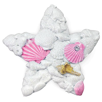 Coastal HP Polyresin Magnet,- Shells Star -