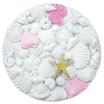Coastal HP Polyresin Magnet,- Shells Circle -