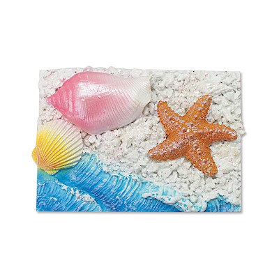 Coastal HP Polyresin Magnet,- Rectangle - Starfish -