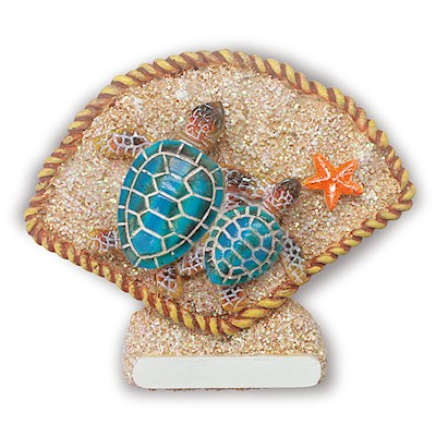 Coastal HP Polyresin Magnet,- Turtles 'Hawaii' -
