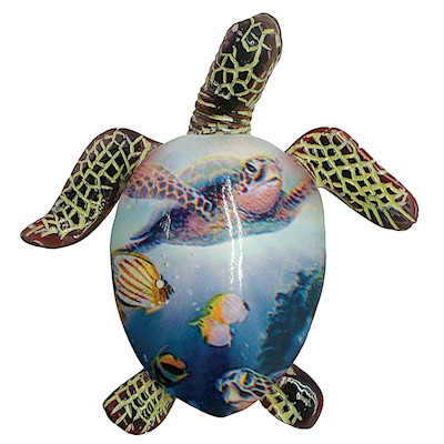 Coastal HP Polyresin Magnet,- Painted Turtle -