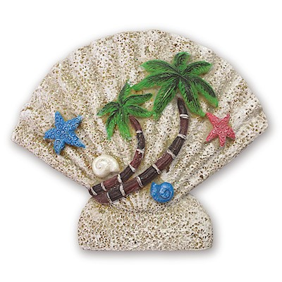 Coastal HP Polyresin Magnet,- Shell Palms -