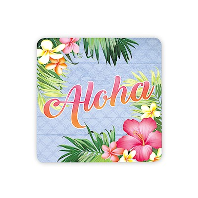 Coastal Wooden Magnet, Aloha Palm