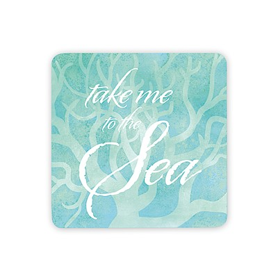 Coastal Wooden Magnet, Take Me to the Sea