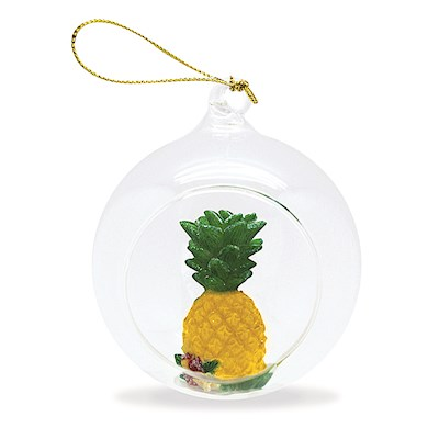 Pineapple Glass Window Ornament