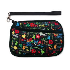 Neoprene Wristlet, Hawaiian Adventures