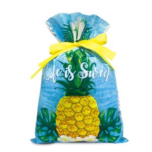 Foil Drawstring Gift Bags SM 3-pk, Life Is Sweet