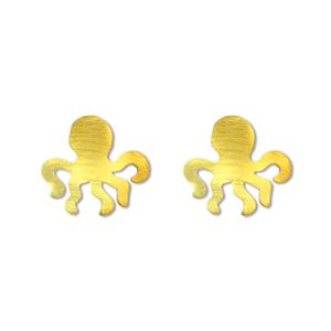 Charm Octopus Earring-Gold