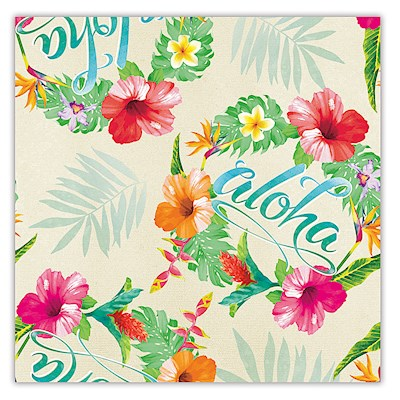 Rolled Gift Wrap, Aloha Floral