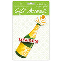 3D Gift Accent, Champagne Bottle *