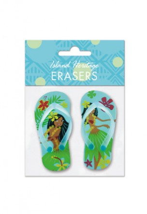 Rubber Slipper Eraser - Island Hula Honeys