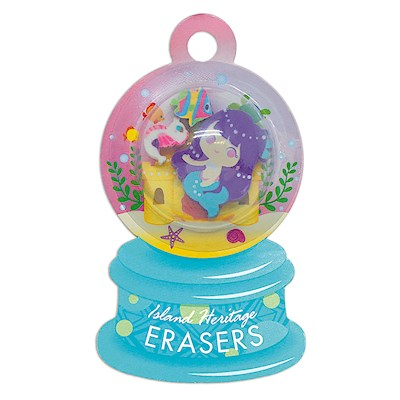 Rubber Eraser Set, Mermaid - Purple