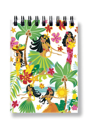 Notebook Small 50-sht, Island Hula Honeys