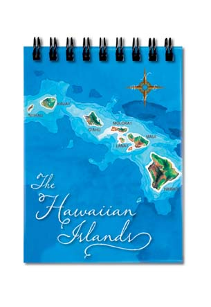 Notebook Small 50-sht, Hawai'i Map - Blue