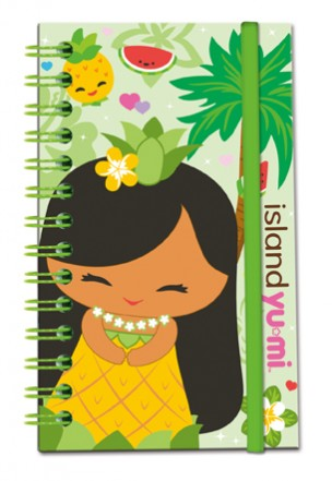 Notebook with Elastic Band Island Yumi-Mai