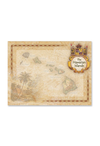 Rect. Aloha Stick'n Notes 50-sht, The Hawaiian Islands
