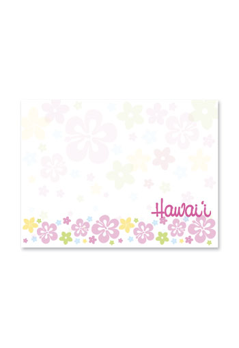 Rect. Aloha Stick'n Notes 50-sht, Spring Floral Band