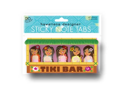Sticky Memo Tabs Tiki Bar
