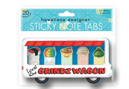 Sticky Memo Tabs 5-pk 20-sht, Local Kine Grindz Wagon