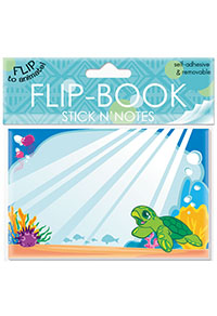 Flip Book Stick'n Notes 32-sht, Honu Ohana
