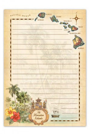 Notepad The Hawaiian Islands-Tan