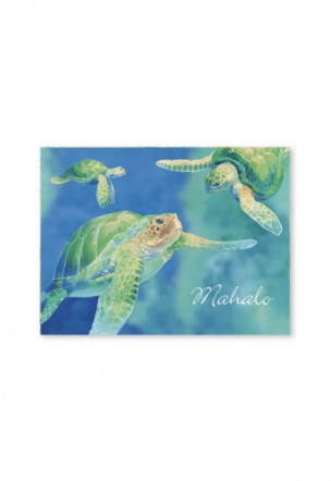 Packaged Mahalo Cards Swimming Honu