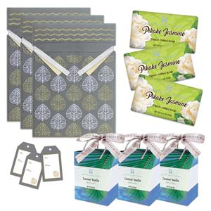 Pikake Jasmine Soap & Coconut Vanilla Bath Salts Gift Kit