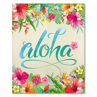 Hardcover 64-View 4x6 Photo Album, Aloha Floral