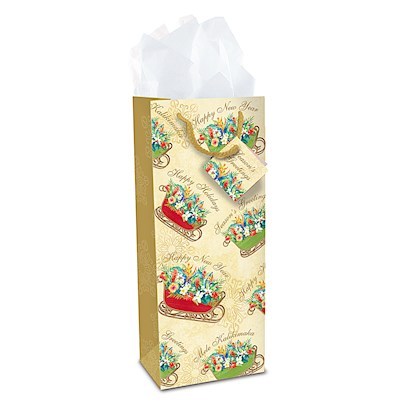 Wine Gift Bag, Sleigh of Aloha