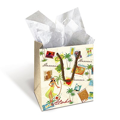 Small Gift Bag, Stamped with Aloha *