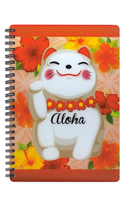 3D Lenticular Journal, Aloha Lucky Cat