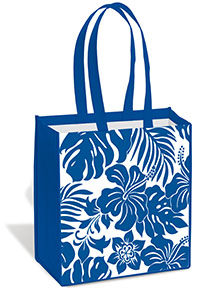 Island Tote Bag - Hibiscus Floral Blue
