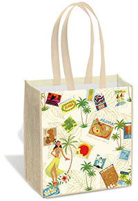 Island Tote, Stamped with Aloha