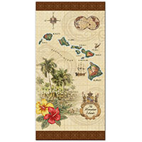Beach Towel, Islands of Hawaii - Tan