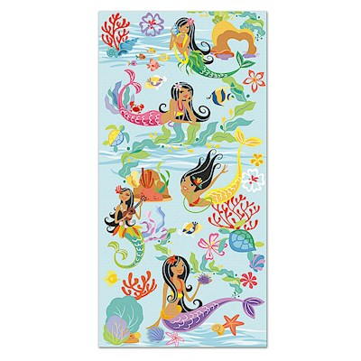 Beach Towel, Island Hula Mermaids