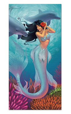 Beach Towel, Island Heritage Mermaids - Jewel