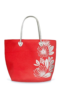 Silver Tote, Lehua (Red)