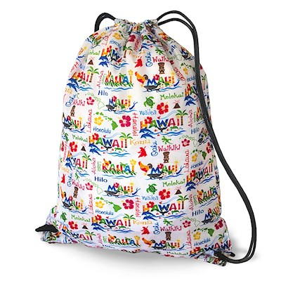 Drawstring Backpack, Hawaiian Adventures