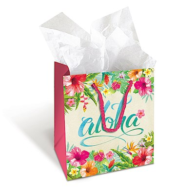 Mini Gift Bag, Aloha Floral (V) *