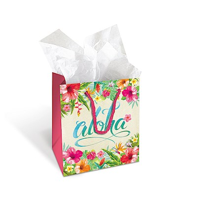 Small Gift Bag, Aloha Floral