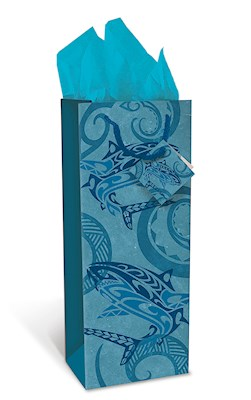 Gift Bag - Tribal Shark - Wine BAG