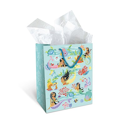 Medium Gift Bag,- Island Hula Mermaid -